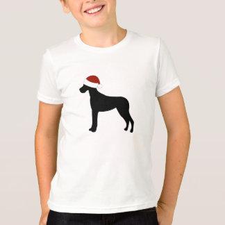 グレートデーンのサンタの帽子 Tシャツ