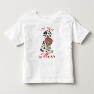 グレートデーンのハートのお母さん トドラーTシャツ