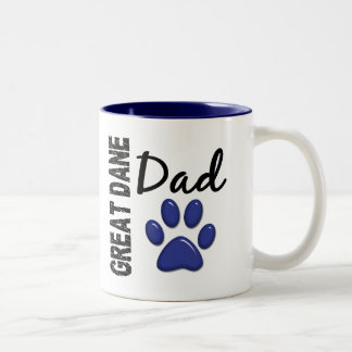 グレートデーンのパパ2 ツートーンマグカップ