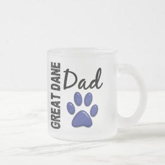 グレートデーンのパパ2 フロストグラスマグカップ