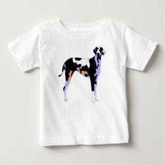 グレートデーンのポップアート ベビーTシャツ