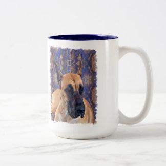 グレートデーンのマグ ツートーンマグカップ
