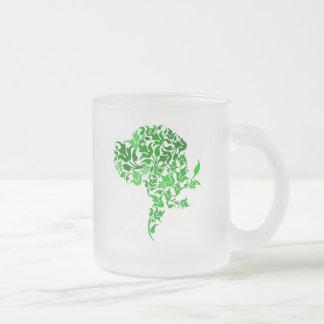 グレートデーンのモダン フロストグラスマグカップ