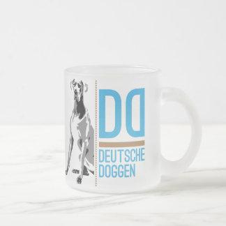 グレートデーンのロゴ フロストグラスマグカップ