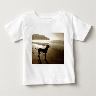 グレートデーンの子犬の日没 ベビーTシャツ
