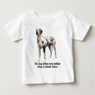 グレートデーンの道化師の幼児のユニセックスなTシャツ ベビーTシャツ