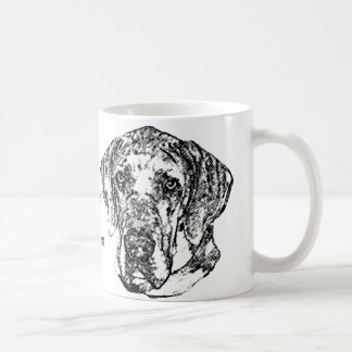 グレートデーンの鉛筆のスケッチのマグ コーヒーマグカップ
