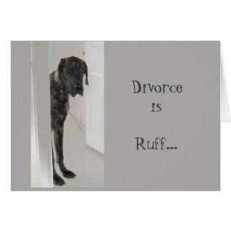 グレートデーンの飼い犬の離婚のエリマキシギ私はあなたのためにここにいます カード