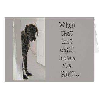 グレートデーンの飼い犬はあなたの損失エリマキシギです カード