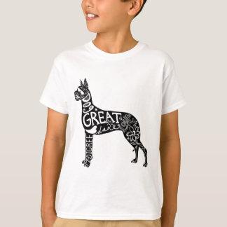 グレートデーンは素晴らしいです! Tシャツ