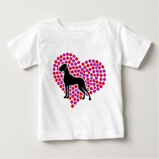 グレートデーン愛 ベビーTシャツ