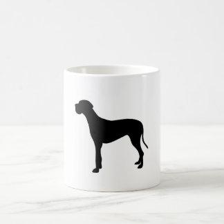 グレートデーン犬のシルエット コーヒーマグカップ