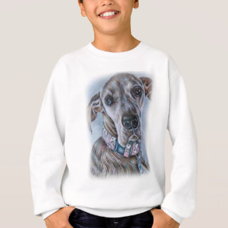 グレートデーン犬のスケッチのデザイン スウェットシャツ