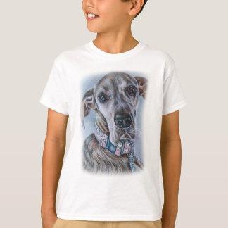 グレートデーン犬のスケッチのデザイン Tシャツ
