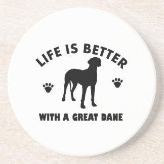 グレートデーン犬のデザイン コースター