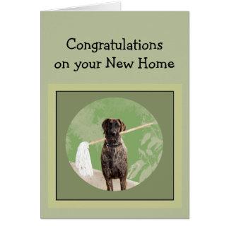 グレートデーン犬のユーモアのお祝いの新しい家 カード