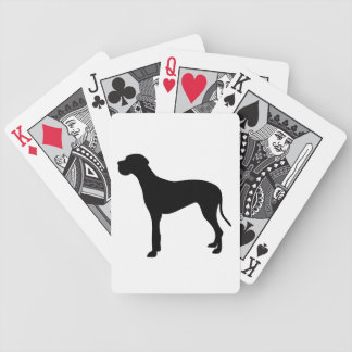 グレートデーン犬の美しく黒いシルエット バイスクルトランプ