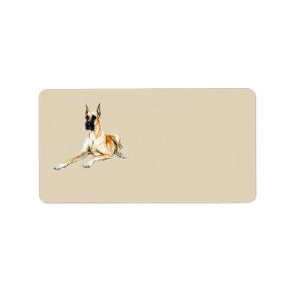 グレートデーン犬の芸術の宛名ラベル ラベル