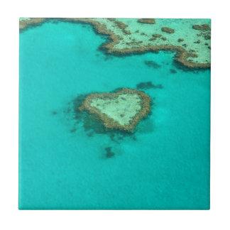 グレート・バリア・リーフのオーストラリアのハートの珊瑚 タイル