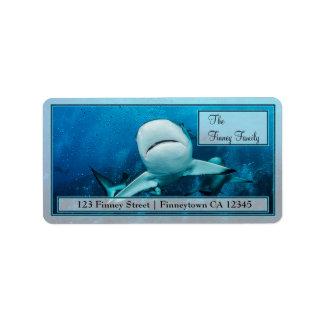 グレート・バリア・リーフの宛名ラベルの礁の鮫 ラベル