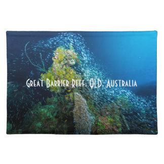 グレート・バリア・リーフの熱帯魚の珊瑚海 ランチョンマット