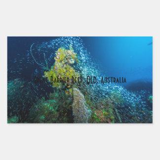 グレート・バリア・リーフの熱帯魚の珊瑚海 長方形シール
