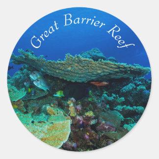 グレート・バリア・リーフの熱帯魚 ラウンドシール