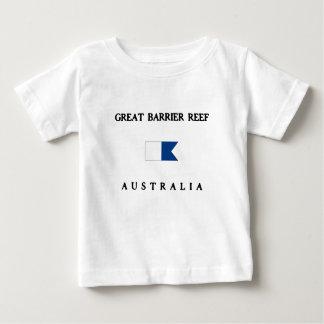 グレート・バリア・リーフオーストラリアのアルファ飛び込みの旗 ベビーTシャツ