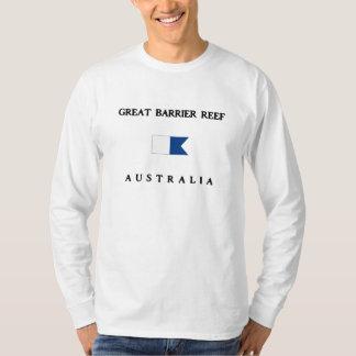 グレート・バリア・リーフオーストラリアのアルファ飛び込みの旗 Tシャツ