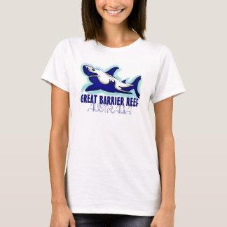 グレート・バリア・リーフオーストラリアのヨシキリザメの女性ティー Tシャツ