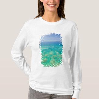 グレート・バリア・リーフ、緑の空中写真 Tシャツ