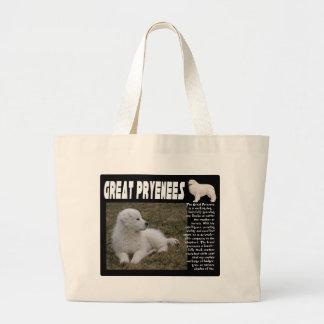 グレート・ピレニーズの品種記述の子犬の写真 ラージトートバッグ