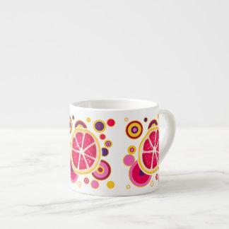 グレープフルーツの切れの円のデザイン エスプレッソカップ