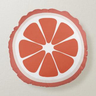 グレープフルーツの切れの食糧枕 ラウンドクッション