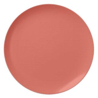 グレープフルーツ色のプレート プレート