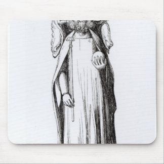 グロスターのカテドラルからのエドワード二世の彫像 マウスパッド