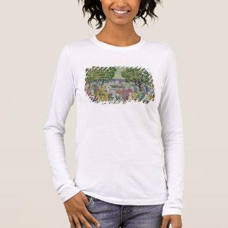グロスター港(キャンバスの油) 長袖Tシャツ