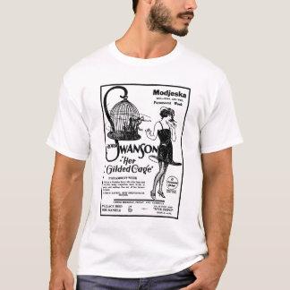 グロリアSwansonは彼女おり1922のフィルムの広告を金めっきしました Tシャツ