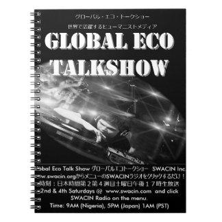 グローバルエコトークショーフォトノートブック (80ページ 白黒のライン入り) ノートブック