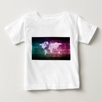 グローバル・ネットワークのつながりおよび統合される ベビーTシャツ