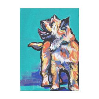 ケアーン・テリア犬のポップアート キャンバスプリント
