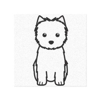 ケアーン・テリア犬の漫画 キャンバスプリント