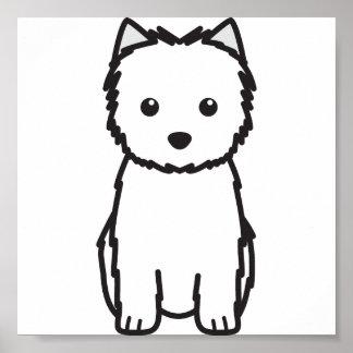 ケアーン・テリア犬の漫画 ポスター