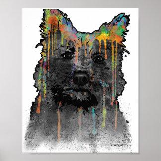 ケアーン・テリア犬 ポスター