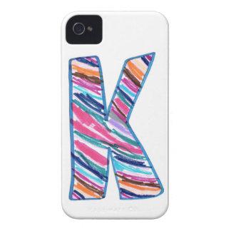 ケイのようにカラフルな手紙K Case-Mate iPhone 4 ケース