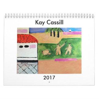 ケイCASSILLの2017年の芸術のカレンダー カレンダー