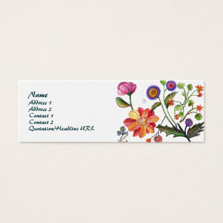 ケシおよびばら色のプロフィールカードNO 2 スキニー名刺