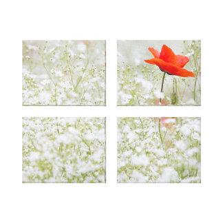 ケシおよびベビーの呼吸花分野のキャンバス キャンバスプリント