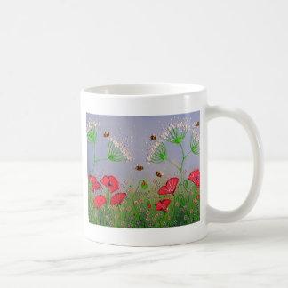 ケシおよび蜂 コーヒーマグカップ