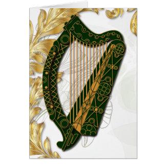 ケシおよび陸軍少佐の階級章- 3が付いているアイルランドのハープ カード